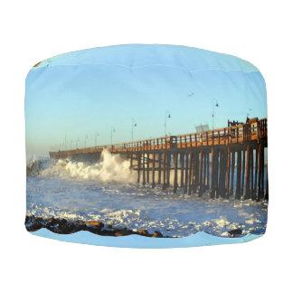 Ocean Wave Storm Pier Pouf