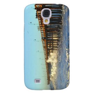 Ocean Wave Storm Pier Samsung Galaxy S4 Case