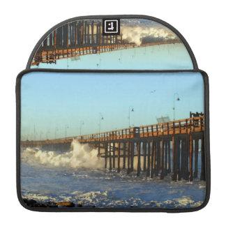 Ocean Wave Storm Pier Sleeve For MacBooks
