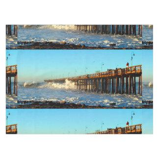 Ocean Wave Storm Pier Tablecloth