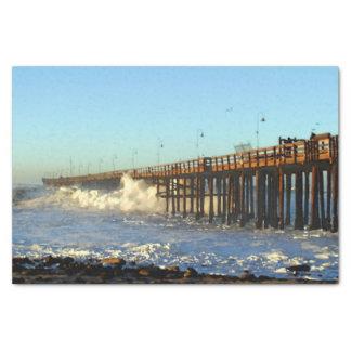 Ocean Wave Storm Pier Tissue Paper
