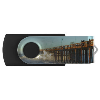 Ocean Wave Storm Pier USB Flash Drive