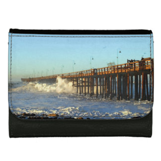 Ocean Wave Storm Pier Wallets For Women