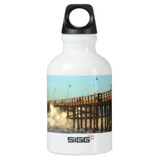 Ocean Wave Storm Pier Water Bottle