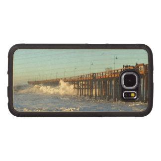 Ocean Wave Storm Pier Wood Phone Case