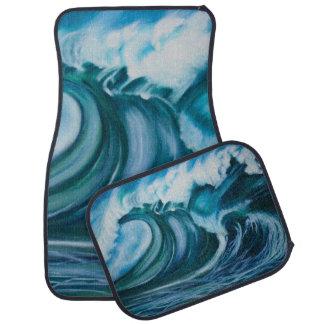 Ocean Wave Car Mat