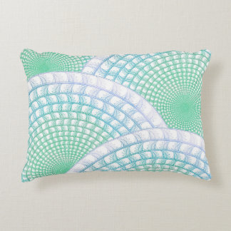 Ocean Waves Abstract Accent Pillow