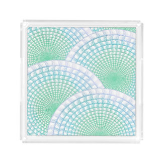 Ocean Waves Abstract Acrylic Tray
