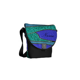 Ocean Waves Abstract  texture look -personalize!! Messenger Bag