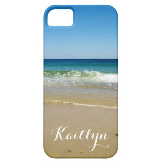Ocean waves and beach barely there iPhone 5 case