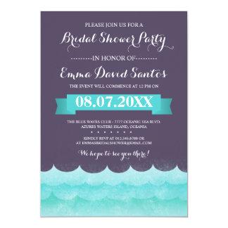 Ocean Waves Beach Bridal Shower Invitation