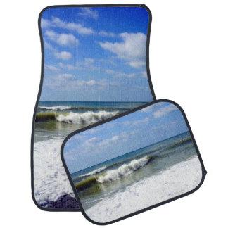 Ocean Waves Beach Scene Floor Mat