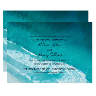 Ocean Waves Beach Wedding Invitation