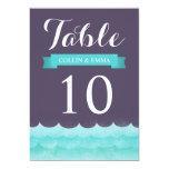 Ocean Waves Beach Wedding Table Numbers 13 Cm X 18 Cm Invitation Card