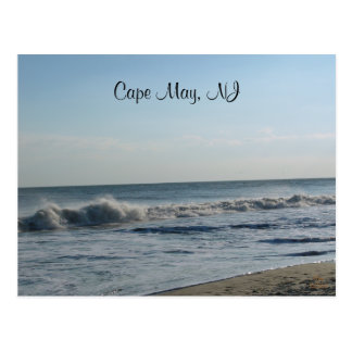 Ocean Waves, Cape May, NJ Postcard