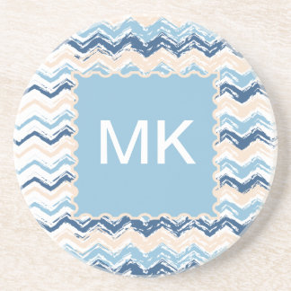 Ocean Waves Chevron Beverage Coasters