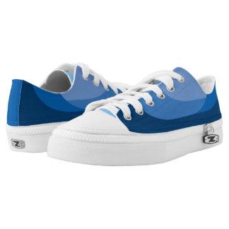 """""""Ocean Waves"""" Deck Shoes - Low Top Sneakers"""