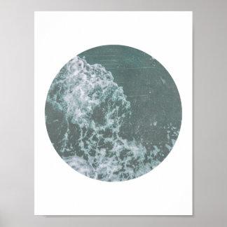 Ocean Waves Distressed Print