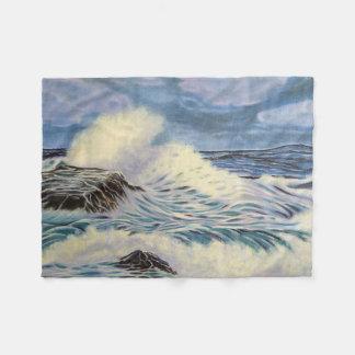 Ocean Waves Fleece Blanket