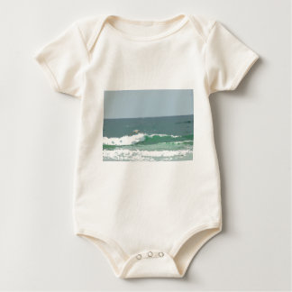 OCEAN WAVES GOLD COAST AUSTRALIA ART EFFECTS BABY BODYSUIT