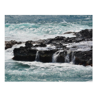 Ocean Waves in Kauai Postcard