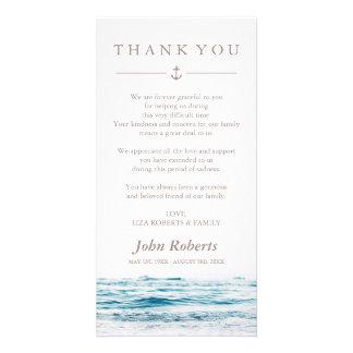 Ocean Waves | Nautical Sympathy Thank You Photo Greeting Card