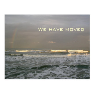 Ocean Waves New Address Postcards