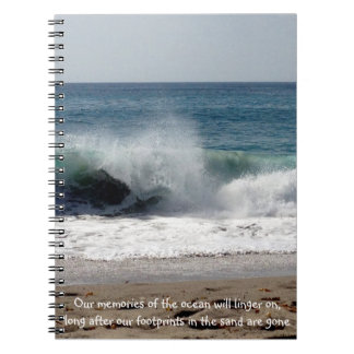 Ocean waves on the beach - Notebook