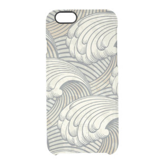 Ocean Waves Pattern Ancient Japan Art Clear iPhone 6/6S Case