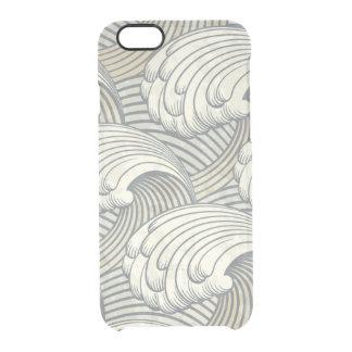 Ocean Waves Pattern Ancient Japan Art Clear iPhone 6/6S Case