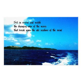 Ocean Waves Personalised Stationery
