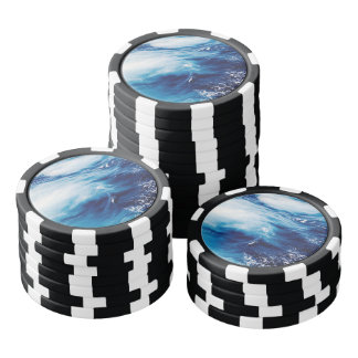 Ocean Waves Poker Chips