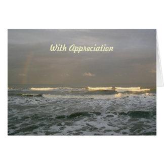 Ocean Waves Rainbow Pastor Appreciation Card
