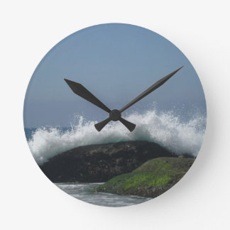 Ocean waves round clock