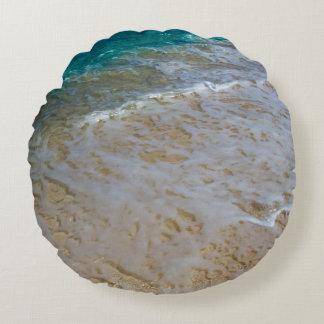 Ocean Waves Round Cushion