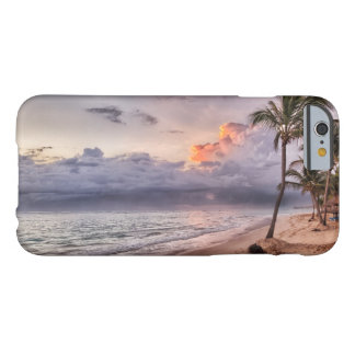 Ocean Waves Sandy Beach Sunset Barely There iPhone 6 Case