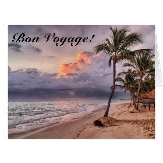 Ocean Waves Sandy Beach Sunset Big Greeting Card