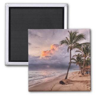 Ocean Waves Sandy Beach Sunset Magnet