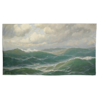 Ocean Waves Sea Seagull Bird Pillowcase