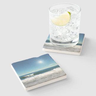 Ocean Waves Stone Coaster