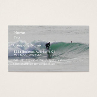 Ocean Waves Surfing Surfers Business Card