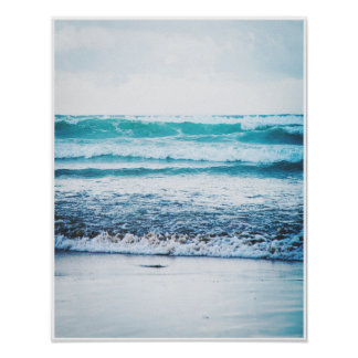 Ocean Waves Version 3 Photography poster print