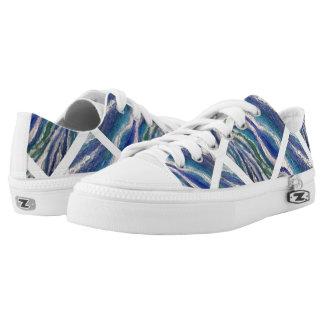 Ocean Waves Zipz  Shoes, US Men 4 / US Women 6 Printed Shoes