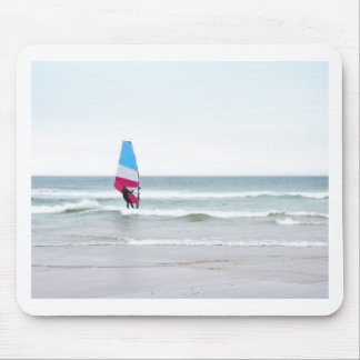 Ocean Windsurfer with Red White and Blue Mouse Pad