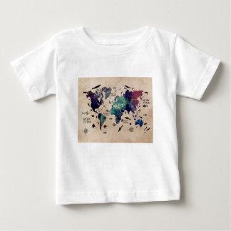 ocean world map baby T-Shirt
