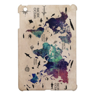 ocean world map iPad mini covers