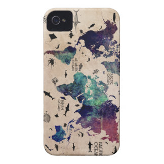 ocean world map iPhone 4 Case-Mate case