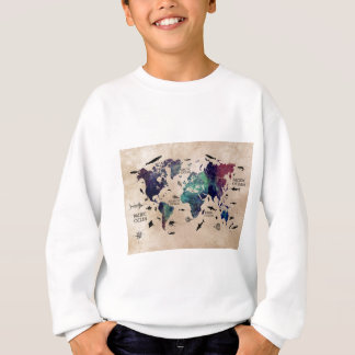 ocean world map sweatshirt