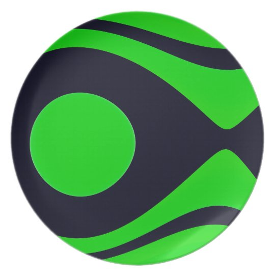 Oceana Green  Melamine Plate