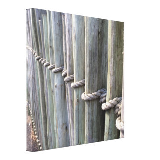 Oceanfront Fence Canvas Print